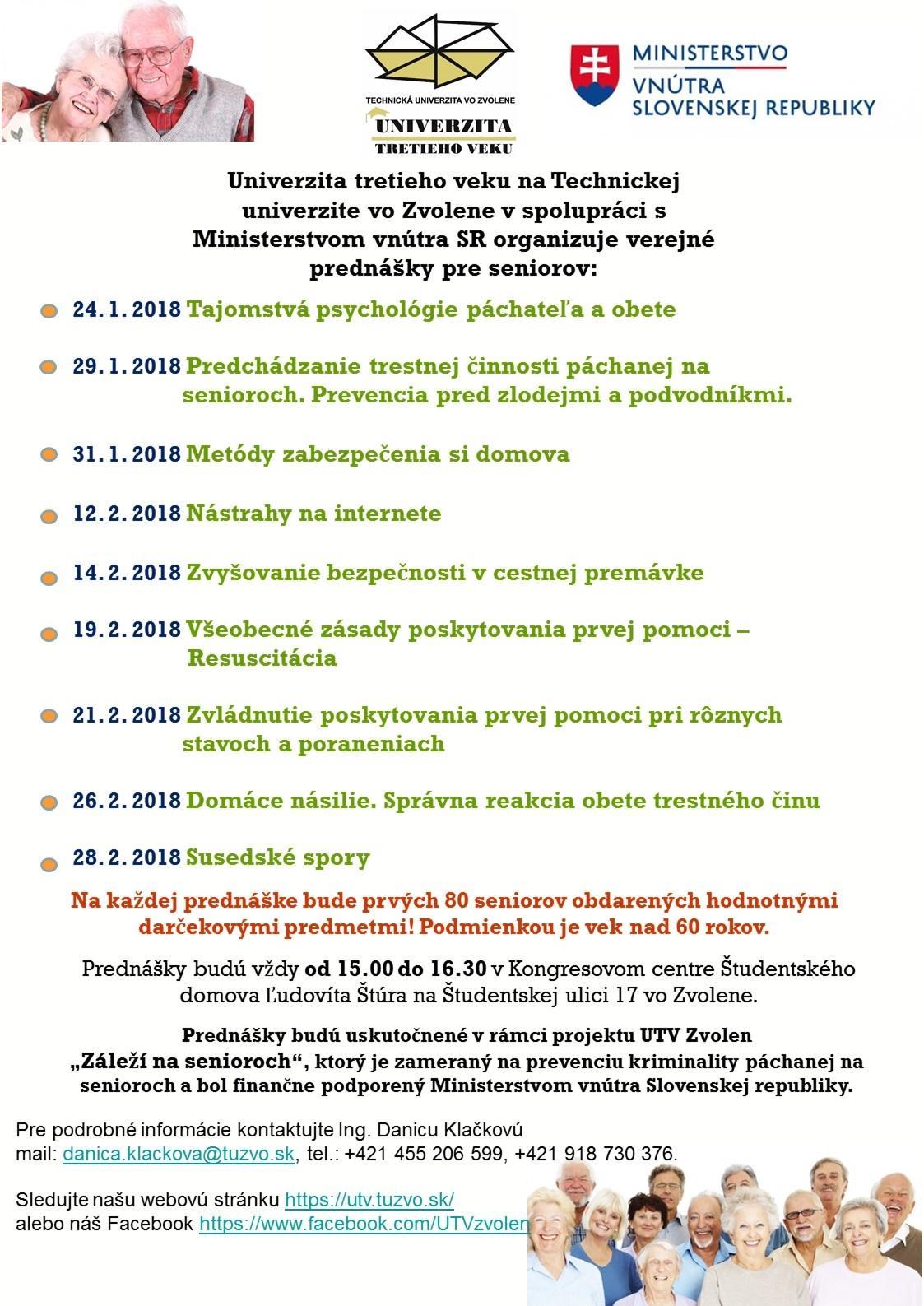631ff4129 Verejné prednášky pre seniorov od 24. januára o prevencii kriminality