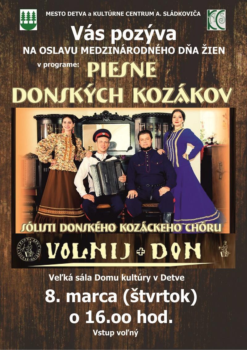 0423a64b29 Medzinárodný deň žien  živé vystúpenie Donských kozákov