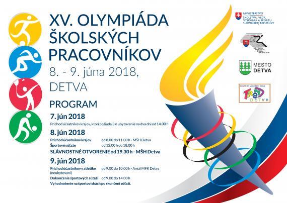 Plagát olympiády s obsahom ako je v texte 26e3a054efd